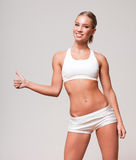 Super fit blond woman. Stock Photography