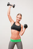 Super fit blond woman. Royalty Free Stock Image