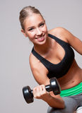 Super fit blond woman. Stock Image