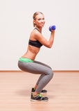 Super fit blond woman. Stock Images