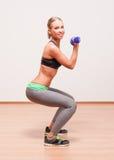 Super fit blond woman. Stock Images