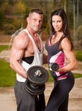 Super fit couple. Stock Images