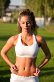 Super fit girl. Royalty Free Stock Image