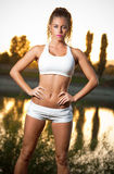 Super fit girl. Royalty Free Stock Photography