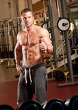 Super fit young man. Royalty Free Stock Image