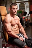 Super fit young man. Royalty Free Stock Images