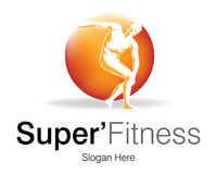 Super Fitness Logo. Logo Design for Fitness club Royalty Free Stock Photo
