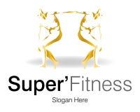 Super Fitness Logo Stock Image