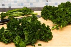 Curly kale home grown Stock Photos