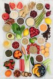 Super Food Diet Ingredients Royalty Free Stock Photos
