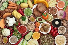 Free Super Food For A Plant Based Vegan Diet Stock Photography - 181079842