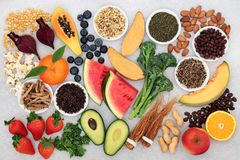 Free Super Food For Vitality Energy & Fitness Royalty Free Stock Images - 161430649