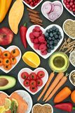 Super Food for a Healthy Heart Royalty Free Stock Photos