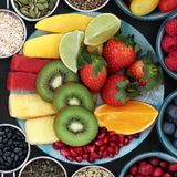Super Food High in Antioxidants and Anthocyanins Stock Photo