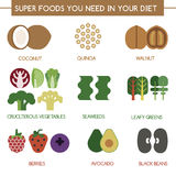 Super foods you need in your diet Stock Images