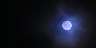 Super Full Moon. At night Stock Photos