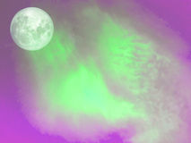 Super full moon purple cloud in blue sky. Light of sunset in evening, Elements of this image furnished by NASA Stock Photo