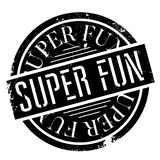 Super Fun rubber stamp Stock Photography