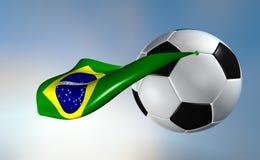 Super futbol van Brazilië Stock Foto