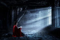 Free Super Girl In Isolation. Mixed Media Stock Images - 143005284