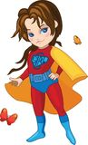Super Girl vector illustration Stock Photos