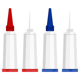 Super glue tubes Royalty Free Stock Images