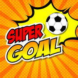 Super Goal Comic Speech Bubble, Cartoon. Stock Images