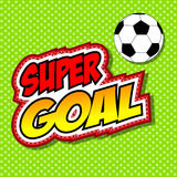 Super Goal Comic Speech Bubble, Cartoon. Royalty Free Stock Images