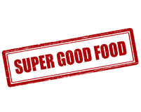 Super good food. Rubber stamp with text super good food inside,  illustration Stock Image
