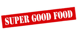 Super good food. Rubber stamp with text super good food inside, vector illustration Royalty Free Stock Images