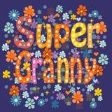 Super grandma. Vector Royalty Free Stock Photos