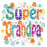 Super grandpa. Vector Royalty Free Stock Photos