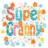 Super granny. Vector Royalty Free Stock Photo