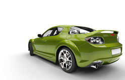 Super Green Car - Back View Stock Image