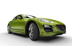 Super Green Car Royalty Free Stock Image