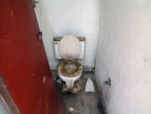 Super gross public bathroom. Super gross public one person bathroom in Palau stock images