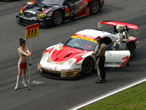 Super GT #111 ArkTech Boxster royalty free stock image