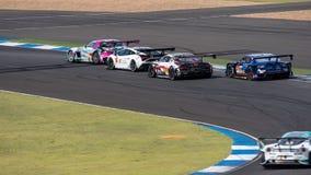 Super GT Final Race 66 Laps at 2015 AUTOBACS SUPER GT Round 3 BU. BURIRUM, THAILAND - JUNE 21 : Super GT Final Race 66 Laps at 2015 AUTOBACS SUPER GT Round 3 Stock Images