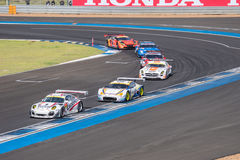 Super GT Final Race 66 Laps at 2015 AUTOBACS SUPER GT Round 3 BU Royalty Free Stock Photography