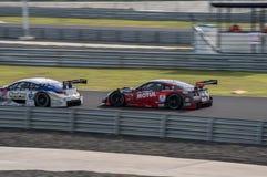 Super GT Final Race 66 Laps at 2015 AUTOBACS SUPER GT Round 3 BU. BURIRUM, THAILAND - JUNE 21 : Super GT Final Race 66 Laps at 2015 AUTOBACS SUPER GT Round 3 Royalty Free Stock Images