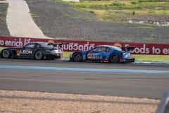 Super GT Final Race 66 Laps at 2015 AUTOBACS SUPER GT Round 3 BU. BURIRUM, THAILAND - JUNE 21 : Super GT Final Race 66 Laps at 2015 AUTOBACS SUPER GT Round 3 Royalty Free Stock Photo