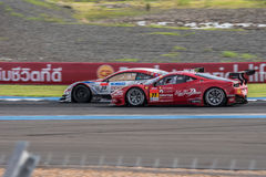 Super GT Final Race 66 Laps at 2015 AUTOBACS SUPER GT Round 3 BU Royalty Free Stock Photo