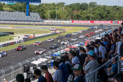 Super GT Final Race Before Start at 2015 AUTOBACS SUPER GT Round Stock Photo