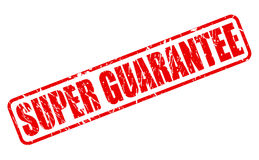 SUPER GUARANTEE red stamp text Royalty Free Stock Images