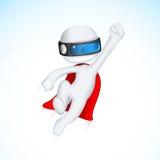 super héroe 3d en Vactor Foto de archivo