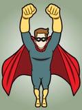 Super héroe de Flyng Imágenes de archivo libres de regalías