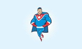 Super héroe de la historieta Imagen de archivo