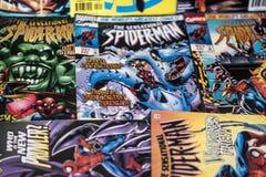 Super héroe de los tebeos de la maravilla de Spider-Man Fotografía de archivo