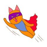 Super héroe del gato Imagenes de archivo