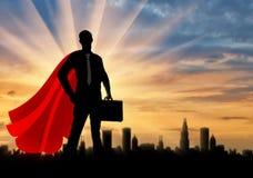 Super héroe del hombre de negocios del superhombre Foto de archivo